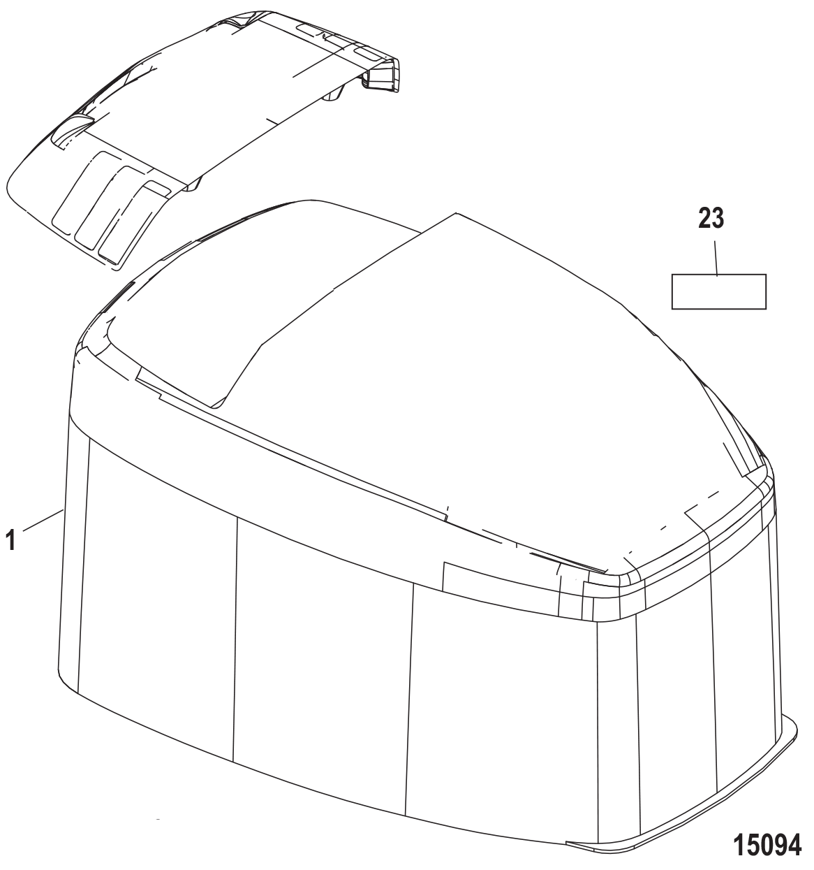 Outboard Decal Replicas Diagram Of 8 2 Cyl2strokeinternational Mercury Decals